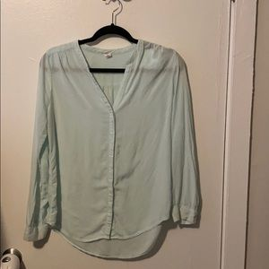 Old Navy mint button down blouse